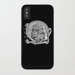 Black and White Catrina (Day of the Dead) iPhone Case