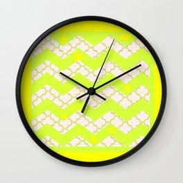 Modern Abstract Lemon Chiffon Color Art Pattern  Wall Clock