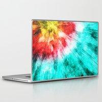 tie dye Laptop & iPad Skins featuring Colorful Tie Dye by Phil Perkins