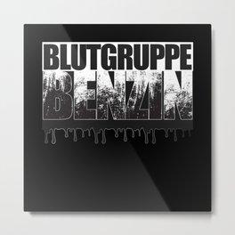 Blutgruppe Benzin - Motorcycle Rider Design Metal Print