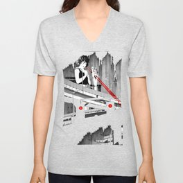 Stop the Freeway Overpass Scales Madness! Unisex V-Neck