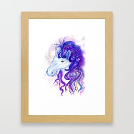 Fantasy unicorn portrait Framed Art Print