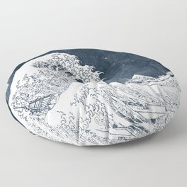 The Great Wave of a Star System Floor Pillow