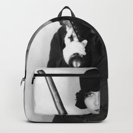 Louise Brooks with Horse pistols badass female black and white photograph / art photography Backpack