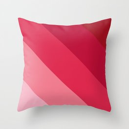 Pink parallels Throw Pillow