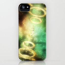 The Girl Lost In Time iPhone Case