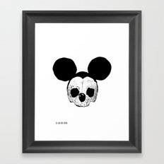 Dead Mickey Mouse Framed Art Print
