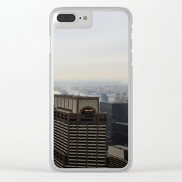 NYC West Side Panorama with Hudson River Clear iPhone Case