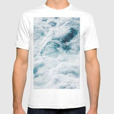 sea - midnight blue storm Mens Fitted Tee White MEDIUM