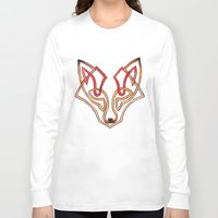celtic Long Sleeve T-shirts featuring Celtic fox - celtic knot by Ioreth