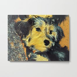 Penny the puppy Metal Print