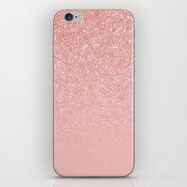 Rose Gold Glitter Cascade iPhone Skin