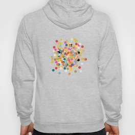 Gold & Colorful Confetti Pattern Hoody