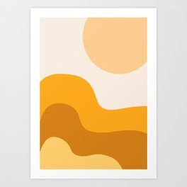 Sun Dunes 01 Art Print