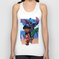 lilo and stitch Tank Tops featuring Lilo & Stitch by Archiri Usagi