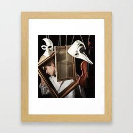 Art and man Framed Art Print