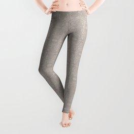 Latte Vertical Lace Leggings