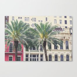 Palms & the City Canvas Print