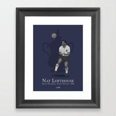 Nat Lofthouse - Bolton Wanderers - 1958 FA Cup Winner Framed Art Print