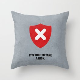 Lab No. 4 - It's Time To Take A Risk Business Inspirational Quotes Poster Throw Pillow