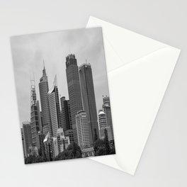 Retro Skyline Stationery Cards
