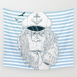 Sailor Monkey Wall Tapestry