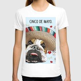Cinco de Bulldog T-shirt