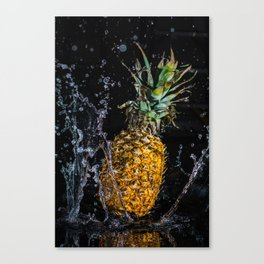 A splash of pineapple Canvas Print