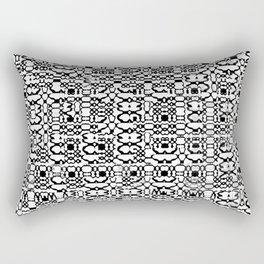 Black and White Mesh Rectangular Pillow