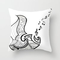 saxophone Throw Pillows featuring Saxophone by Inailau Hut