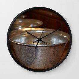 Tibetan Water Offering Bowls Wall Clock