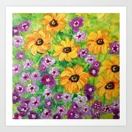 The Angel - Daisies and Phlox Painting Art Print