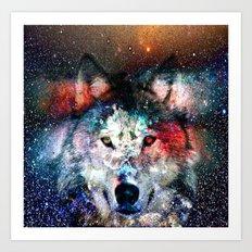 wolf universe Art Print