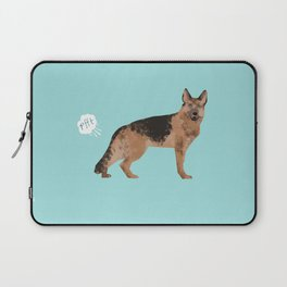 german shepherd funny farting dog breed gifts Laptop Sleeve