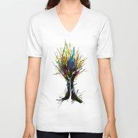 creativity V-neck T-shirts featuring Creativity by Tobe Fonseca