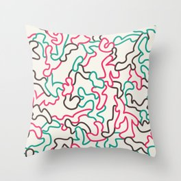Fantasy pattern. Colour #1. Throw Pillow