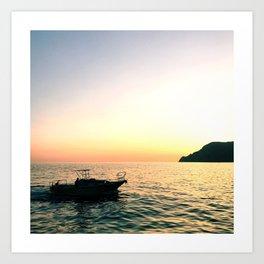 sunset dreams - Cinque Terre, Italy Art Print