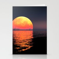 moonrise Stationery Cards featuring Moonrise by Tobias Bowman