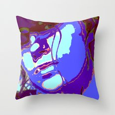 Blue Lagoon Geisha  Throw Pillow