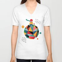 lonely V-neck T-shirts featuring Lonely planet by Andy Westface