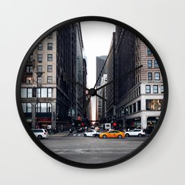 Down Madison Wall Clock