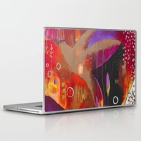 "flora bowley Laptop & iPad Skins featuring ""Reflect You"" Original Painting by Flora Bowley by Flora Bowley"