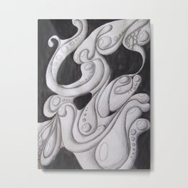 Fluidity of Motion Metal Print