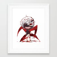 tokyo ghoul Framed Art Prints featuring TOKYO GHOUL by enzouke