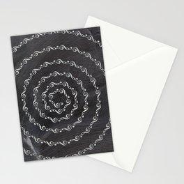 Sol key swirl on chalkboard Stationery Cards