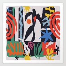 inspired to Matisse (black) Art Print