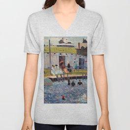 Pierre-Auguste Renoir - The Bathing Hour, Chester, Nova Scotia Unisex V-Neck