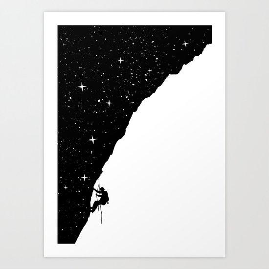 night climbing Art Print