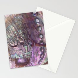 Shimmery Lavender Abalone Mother of Pearl Stationery Cards