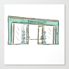 Tiffany Shopfront Canvas Print